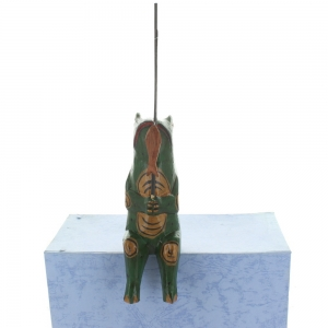 Wooden Fishing Frog
