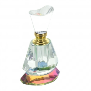 Faceted Clear Glass Perfume Bottle