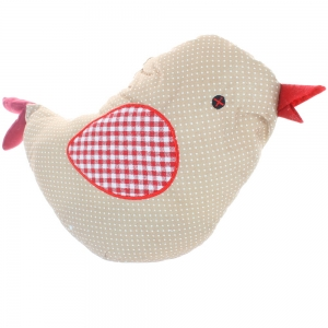 Brown And White Spotted Chicken Doorstop