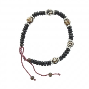 Cord and Bead Bracelet - Black