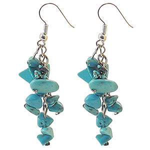 Wholesale Chip Earrings - Turquoise