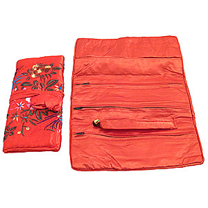Wholesale Jewellery Roll - Red