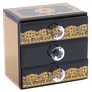 Wholesale Mirrored 3 Drawer Box - Bronze
