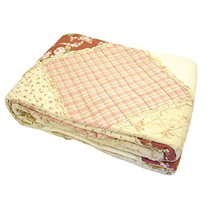 Wholesale cottage garden quilt cover (red)