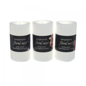 Wholesale Floral Mist Medium Pillar Candle