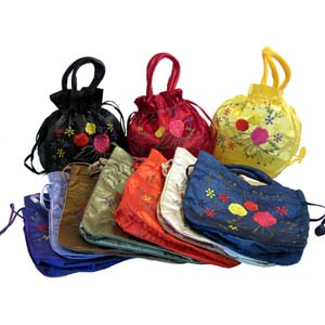 two side embroidered dolly bag assorted 2