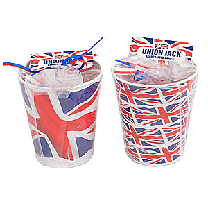 Wholesale Union Jack Candle in Tin - Small