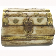 Wholesale Brass Trimmed Bone Treasure Chest