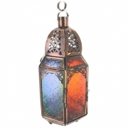 Wholesale Large Hexagonal Copper Coloured Glass Lantern