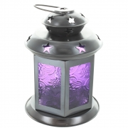 Maroc Style Tea Light Lantern - Purple