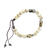 Cord and Bead Bracelet - Brown