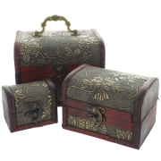 Flowery Chests - Set of 3