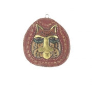 Very Small Wooden Face Plaque - Design 1