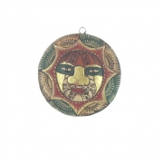Very Small Wooden Face Plaque - Design 2