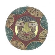 Medium Size Wooden Face Plaque - Design 2