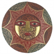 Large Wooden Face Plaque