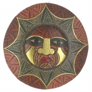 Large Wooden Face Plaque Design 2
