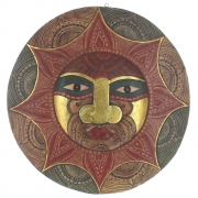 Large Wooden Face Plaque Design 4