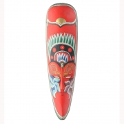 Javan Style Long Wooden Mask - Red