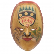 Javan Style Standard Wooden Mask - Antiqued Brown
