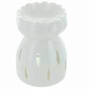 White Lotus Flower Oil Burner