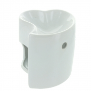 White Heart Shaped Oil Burner