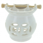 White Hanging Bowl Oil Burner