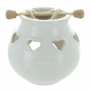 Hanging Bowl Oil Burner With Hearts
