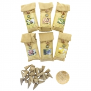 Spa Incense Cones and Holder - 25 Packs