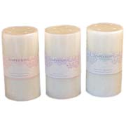 Temptations Lacy Pillar Candle- Medium