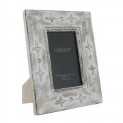 Wholesale Antiqued White Frame with Fleur de Lys