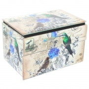 Vintage Design Jewellery Box - Bird and Flower Design
