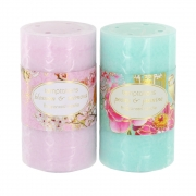 Bird and Flower Medium Pillar Candle