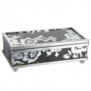 Black Flower Mini Box