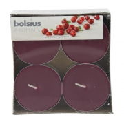 Wholesale Bolsius Pack of 8 Jumbo Wild Cranberry Tea Lights