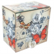 Vintage Design 3 Drawer Chest - Butterfly and Flower Design