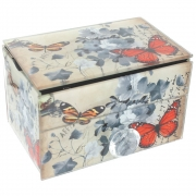 Vintage Design Jewellery Box - Butterfly and Flower Design