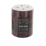 Caramalised Apple and Cinnamon Pillar Candle - Small