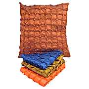 Wholesale Ruched Squre Silky Cushion Cover