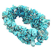 Wholesale Small Chip Cuff - Turquoise