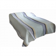 Wholesale Blue Stripe Quilted Throw