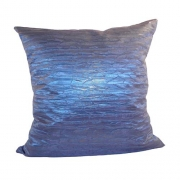 Wholesale Crushed Silky Cushion Cover - Blue