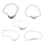 Wholesale Pack of 15 Assorted Crystal Necklaces