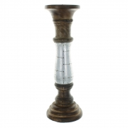 Wholesale Wooden Candlestick With Metal - Medium