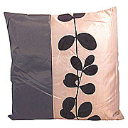 Wholesale Black Leaf Cushion Cover - Brown