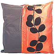 Wholesale Black Leaf Cushion Cover - Red