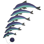wooden 6pc dolphin mobile