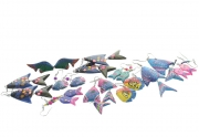 Wooden Fish Earrings - 10 Assorted Pairs