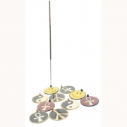 Wholesale Enamelled Incense Holders - 10 Assorted