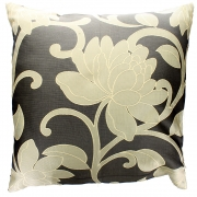 Wholesale Flower Cushion Cover - Coffee And Brown
